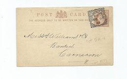 Great Britain Victoria Prepaid Postcard With  Birmingham F 45 Squared Circle 1884 Crisp And Clear - 1840-1901 (Victoria)