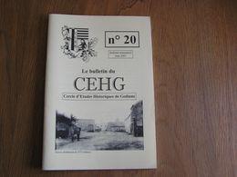 CEHG Revue N° 20 Gedinne Régionalisme Ardenne Patois Wallon Semoy Semois Croix Banale Balais Louette St Denis Bourseigne - Belgium