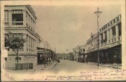 "1905, Picture Card Showing ""Tonkin Hanoi - Rue Paul-Bert"" Sent To Saigon - Ohne Zuordnung"
