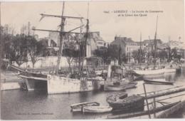 Bv - Cpa LORIENT - Le Bassin De Commerce Et Le Cours Des Quais - Lorient