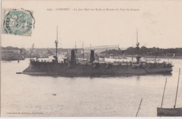 Bv - Cpa LORIENT - Le Jean Bart Sur Rade Et Entrée Du Port De Guerre - Lorient