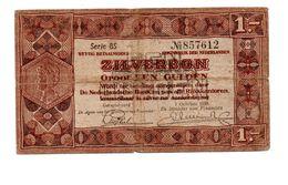 NEDERLAND ZILVERBON 1 GULDEN 1938 - [2] 1815-… : Regno Dei Paesi Bassi