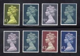 GRANDE-BRETAGNE - 1977/1987 - NEUFS** LUXE/MNH - Série Complète 8 Valeurs - Machins