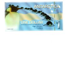 ANTARCTICA 1 DOLLAR 2007 PINGUINS - Banknoten