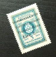 Fiume Croatia Yugoslavia Italy Fiscal Revenue Stamp Lire 2 B58 - Occ. Yougoslave: Fiume