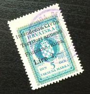 Fiume Croatia Yugoslavia Italy Fiscal Revenue Stamp Lire 2 B59 - Occ. Yougoslave: Fiume
