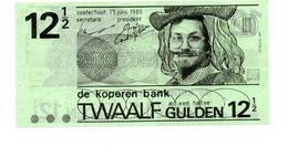 NEDERLAND DE KOPEREN BANK 12 1/2 GULDEN 1980 - Paesi Bassi