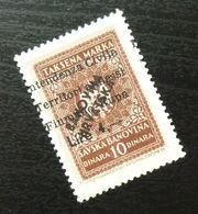 Fiume Croatia Yugoslavia Italy Fiscal Revenue Stamp Lire 4 B60 - Occ. Yougoslave: Fiume