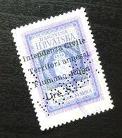 Fiume Croatia Yugoslavia Italy Fiscal Revenue Stamp Lire 8 B63 - Occ. Yougoslave: Fiume
