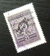 Fiume Croatia Yugoslavia Italy Fiscal Revenue Stamp Lire 10 B65 - Occ. Yougoslave: Fiume