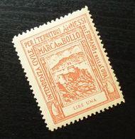 Fiume Croatia Yugoslavia Italy Fiscal Revenue Stamp Lire Una B67 - Occ. Yougoslave: Fiume