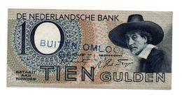 NEDERLAND 10 GULDEN 1943 STAALMEESTER - BUITEN OMLOOP GESTELD - [2] 1815-… : Koninkrijk Der Verenigde Nederlanden