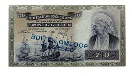 NEDERLAND 20 GULDEN 1939 EMMA - BUITEN OMLOOP GESTELD - 20 Gulden