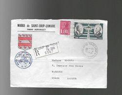"""Devant De Lettre  Recommandée Entête De MAIRIE """"SAINT Loup LAMAIRE 79600 AIRVAULT - Stamps"""