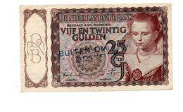 NEDERLAND 25 GULDEN 1943 PRINSESJE  - BUITEN OMLOOP GESTELD - 25 Gulden