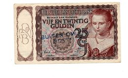 NEDERLAND 25 GULDEN 1943 PRINSESJE  - BUITEN OMLOOP GESTELD - [2] 1815-… : Kingdom Of The Netherlands