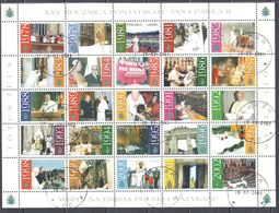 Poland 2003 - Pontificate Of John Paul II - Mi 4018-42 - Sheet - Used - Blocchi E Foglietti