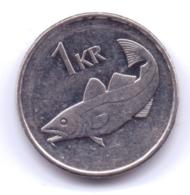 ICELAND 2003: 1 Krona, KM 27a - Islande