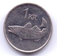 ICELAND 1992: 1 Krona, KM 27a - Islande