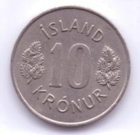 ICELAND 1977: 10 Kronur, KM 15 - Islande