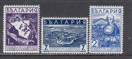 Bulgaria 1936 - 4e Congres Des Geographes Et Ethnographes Slaves, A Sofia, YT 287/89, MNH** - 1909-45 Reino