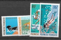 1971 MNH Polenesie Française Mi 129-32 Postfris** - Ungebraucht