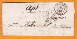1853 -  Lettre Pliée Avec Corresp De Eyguières, Bouches-du-Rhône Vers Apt Via Avignon, Vaucluse - 1849-1876: Klassieke Periode