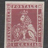 """PIA  -  TOSCANA : 1851-52 - """"Marzocco"""" - Leone Mediceo  -  (SAS  4) - Tuscany"""