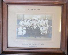 SCHAARBEEK-GUERRE-1914-SERVICE DE L'ALIMENTATION-PHOTO-ORIGINAL DANS SON CADRE-DIMENSIONS DU PHOTO+-12-17 CM- 4 SCANS - Schaerbeek - Schaarbeek