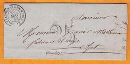 1853 -  Lettre Pliée Avec Corresp De Cabannes Près Chateaurenard, Bouches-du-Rhône Vers Apt Via Avignon, Vaucluse - 1849-1876: Klassieke Periode