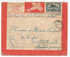 PA MAROC 50C LETTRE AVION LIGNES LATECOERE FRANCE MAROC ALGERIE 1924 - Storia Postale