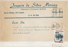Caixa G Depósitos Mechanical  1972 Porto Postmark , JOAQUIM SILVA MOREIRA  Cover , Canelas , Gaia - Postmark Collection