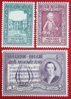 Mozart Musik Music 1956 OBP 987-989 (Mi 1036-1038) POSTFRIS/MNH ** BELGIE BELGIUM - Unused Stamps