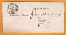1848 -  Lettre Pliée Avec Corresp De Arles Sur Rhône, Bouches Du Rhône Vers Apt, Vaucluse Via Avignon - 1801-1848: Voorlopers XIX