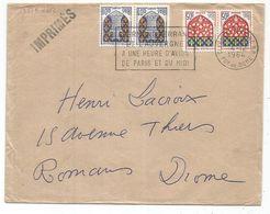BLASON 1C NIORT PAIRE + 5C AMIENS PAIRE LETTRE CLERMONT 4.12.1964 TARIF IMPRIME - 1941-66 Escudos Y Blasones
