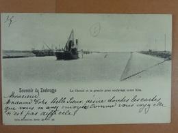 Souvenir De Zeebrugge Le Chenal Et La Grande Grue Soulevant 50.000 Kilo - Zeebrugge