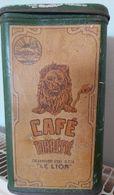 Ancienne Boite A Café Delhaize Le Lion - Boxes