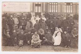 CPA OISE.BEAUVAIS.CAMPAGNE 1914-15.HOPITAL AUXILIAIRE N°202.CACHET CROIX ROUGE.CARTE PHOTO - Beauvais