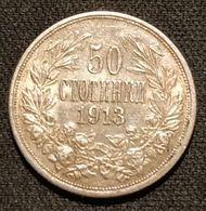 BULGARIE - BULGARIA - 50 STOTINKI 1913 - Argent - Silver - Ferdinand Ier - KM 30 - Qualité - Bulgaria