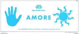 Segnalibro Marque-page Bookmark Associazione LEGA DEL FILO D'ORO - AMORE (mano, Sole) - Marque-Pages