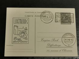 Luxembourg Entier Postaux, Luxembourg Pays Des Roses Oblitéré Differdange - Stamped Stationery