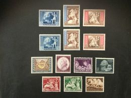 1941*) Postkongreß Mi.820-822 + 823-825,Postverein Mi.828, Mozaart Mi.810,Tag Der Briefmarke Mi 811, U.a. - Ungebraucht