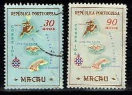 Macau 1956 Af. 390 392 Sc. 387 389 USED - Macao