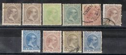 Sellos Varios PUERTO RICO, Colonia Española 1896, Num 115-124 º/* - Puerto Rico