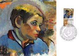 FRANCE.CARTE MAXIMUM. N°207690. 2/04/2016. Cachet Belfort. Paul Gaugin. Tete De Jeune Paysan - Cartoline Maximum