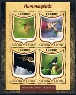 Bloc Sheet Oiseaux Mouches Birds Hummingbirds Neuf MNH ** Sierra Leone 2016 - Colibris