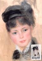 FRANCE.CARTE MAXIMUM. N°207692. 2/04/2016. Cachet Paris. Auguste Renoir. Jeune Femme Au Chapeau Noir - Cartoline Maximum
