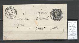 France - Lettre - Yvert 3 - LA SOUTERRAINE - Creuse - 02/1849 - SIGNE BRUN - 1849-1876: Période Classique