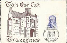 Trazegnies - Carte - COB N°1591 Traphila Tan Que Vive Trazegnies Château 1971 - Belgique