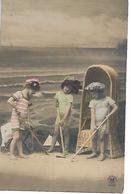 L100G348 - Enfants En Tenue De Bain à La Plage -  Croissant N°3159 - Scènes & Paysages